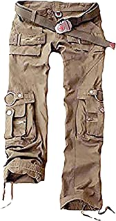 5af0bad53e6 Juicy Trendz Mujeres Pantalones Ejército Militar Señoras Casual Carga  Pantalones