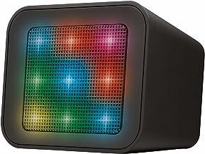 Trust Urban Dixxo Cube - Altavoz Bluetooth con espectáculo de Luces Integrado, Color Negro