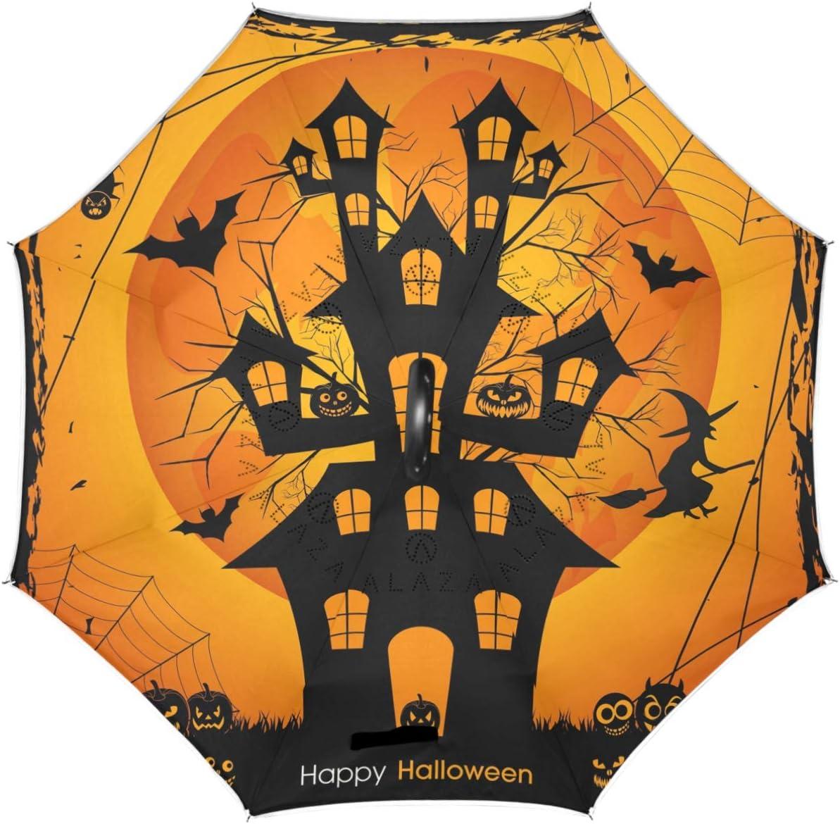 Max 43% OFF Wamika Owl Halloween Reverse Umbrella Bat Layer Pumpkin Double Trust I