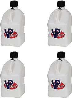 4 Pack VP 5 Gallon Square White Racing Utility Jugs