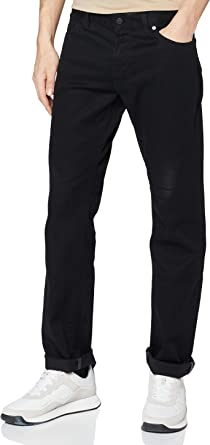 BOSS Mens Maine BC-C Regular-fit Jeans in Dark-Blue Stretch Denim