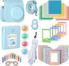 Fujifilm Premium Leather Camera Case with Accessories Kit Bundle for Instax Mini 9 Instant Film Camera | Includes Camera Strap + Photo Album + Picture Frames + Selfie Lens + Cleaning Cloth & More