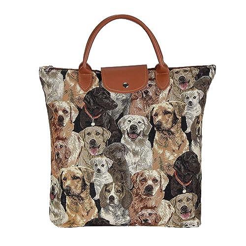 91341154bf Signare Tapestry Women Foldable Reusable Shopping Grocery Bag Signare  Labrador Retriever Dog (FDAW-LAB