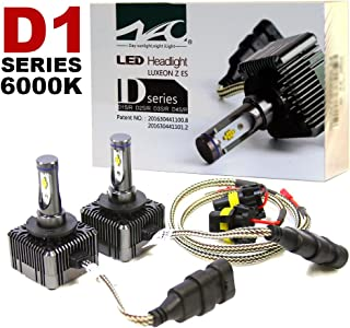 D1S D1R LED Headlight Conversion Kit 72W 6000K, 7600LM Bright White Light Replacement Bulbs