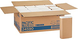 Pacific Blue Basic Recycled Multifold Paper Towels (Previously branded Envision) by GP PRO (Georgia-Pacific), White, 24590, 250 Towels Per Pack, 16 Packs Per Case (4000 Total)