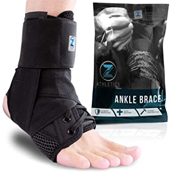 Zenith Ankle Brace, Lace Up Adjustable Support – for Running, Basketball, Injury Recovery, Sprain! Ankle Wrap for Men, Women, and Children