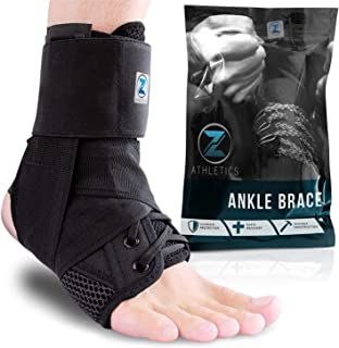 Best Zenith Ankle Brace, Lace Up Adjustable Support – for Running, Basketball, Injury Recovery, Sprain! Ankle Wrap for Men, Women, and Children Review