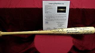 Multi Autographed Signed Memorabilia Adirondack Bat 30 HOF Autos Yaz Berra Banks - JSA Z15319