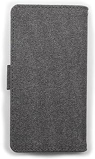 LG Disney Mobile on docomo DM-01G [KYOTO SAKURAYA][左利き用][鏡有り] グレー ストラップ サイドマグネット 手帳型 case スマホケース スマホ カバー ケース 携帯 ストラップ穴 カメラ...