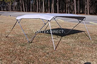 Vortex Grey 4 Bow Bimini Top 10' Long, 73-78