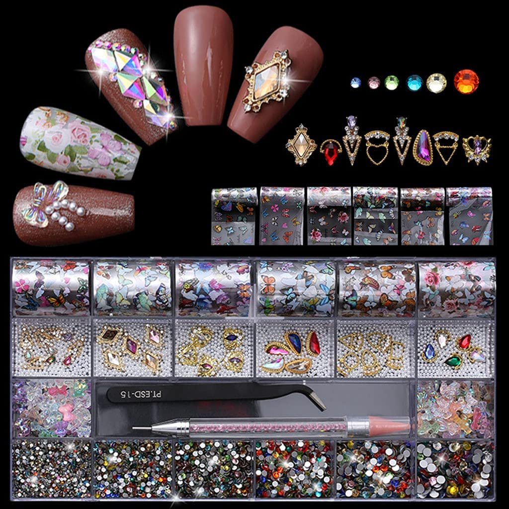 Y-YUNLONG Max 50% OFF 21 Grids Nail Art Decorations Shapes Dual-E with Multi Ranking TOP20