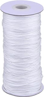 Outus 109 Yards/Roll White Braided Lift Shade Cord for Aluminum Blind Shade, Gardening Plant and Crafts (1.8 mm)
