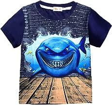 Little Hand Toddler Boys Dinosaur Short Sleeve T-Shirt Summer Kids Graphic Cotton Tops Tees