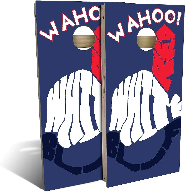 Skip's Garage Wahoo White All-Weather Minneapolis Mall Max 46% OFF Cornhole Set Regul - Board