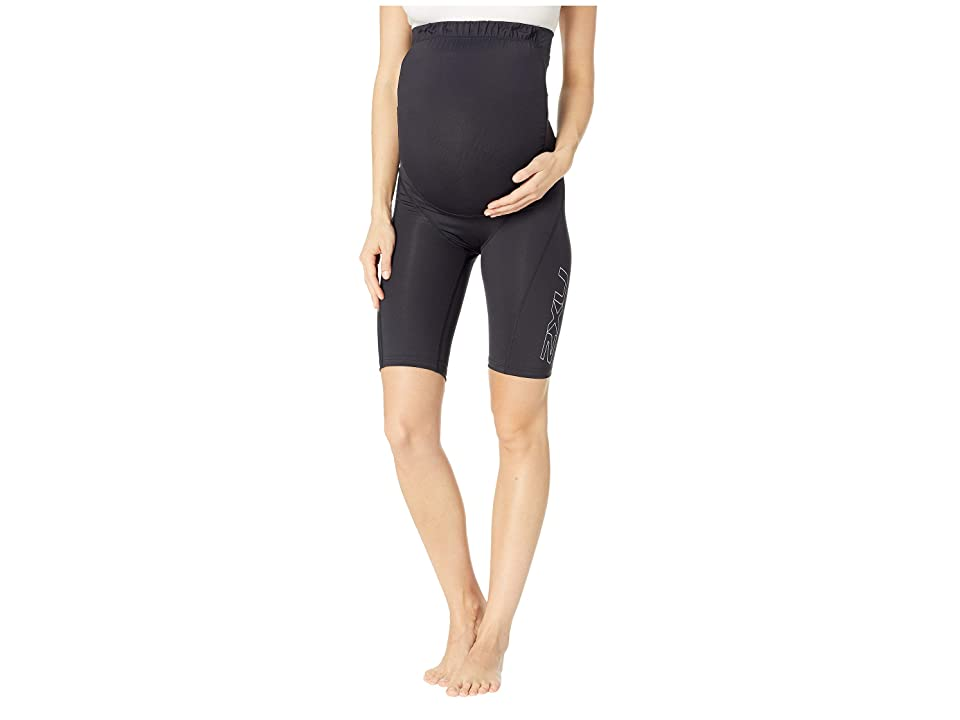 Image of 2XU Pre-Natal Active Compression Shorts (Black/Silver) Women's Shorts