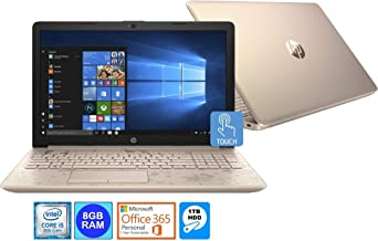 HP 17-BY0021C Intel i5-8250U 8GB 1TB HDD 16GB Intel Optane 17.3 HD+ Touch WLED Laptop Microsoft Office 365 1-Yr(Renewed)