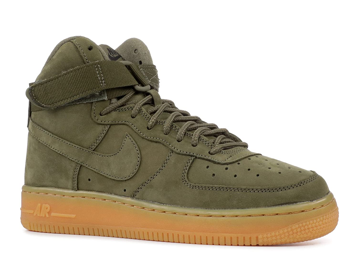 [NIKE - ナイキ] AIR FORCE 1 HIGH WB (GS) 'DARK GREEN' - 922066-202 - SIZE 4y (子供、ユニセックス)