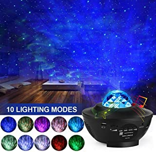 LED Star Projector,Austrobo Kids Night Light Projector Adjustable Lightness Starry Sky Projector 2 in 1 Ocean Wave Projector with Music Speak and Remote Control for Kids Adult Bedroom Living Decor