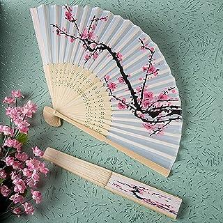 Sunny Hill Delicate Cherry Blossom Design Silk Folding Fan (5)