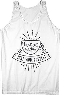 Instant Teacher Just Add Coffee おかしいです 男性用 Tank Top Sleeveless Shirt