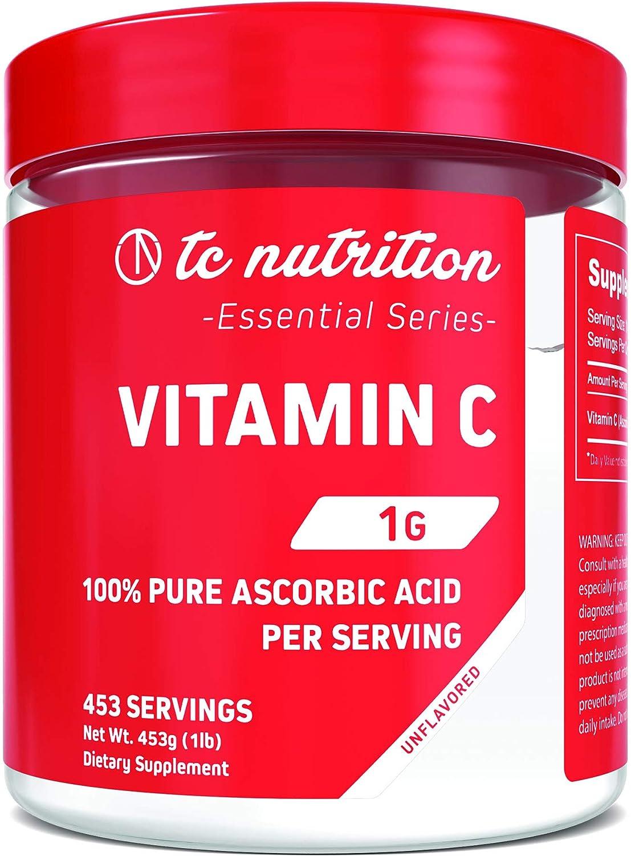 Vitamin C - 1000mg - 100% Pure Ascorbic Acid Powder (453 Servings)