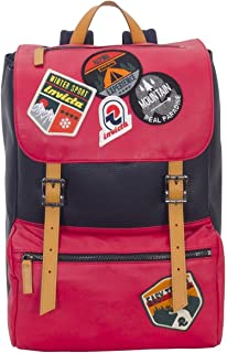 Backpack INVICTA - MY JOLLY - Red - Laptop Sleeve - Leather MADE IN ITALY - 18 LT