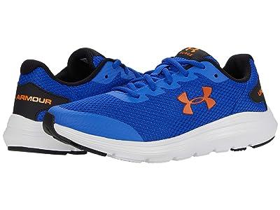 Under Armour Kids Surge 2 (Big Kid) (Emotion Blue/White/Vibe Orange) Boys Shoes