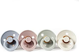 BIBS BPA-Free Natural Rubber Baby Pacifier | Made in Denmark (Cloud/Blush/Sage/Ivory, 6-18 Months) 4-Pack