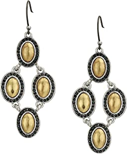 Pave Gem Chandelier Earrings