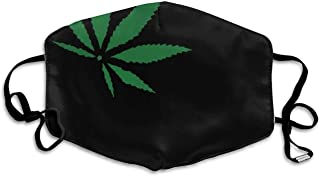 Weed Marijuana Green Leaf Black Printed Facial Ma.sk Decorations For Women And Men