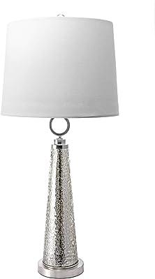 """nuLOOM Home MIT02AA Hawley Table Lamp, 34"""" Height, Satin Nickel & Mercury"""