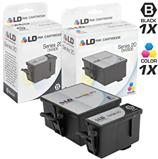 LD Compatible Ink Cartridge Replacement for Dell Photo P703W Series 20 (1 Black, 1 Color, 2-Pack)