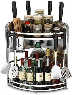 Rangement Pour La Cuisine Support À Épices À 2 Niveaux - Organisateur À Épices - Support À Épices - Rangement De Supports ...