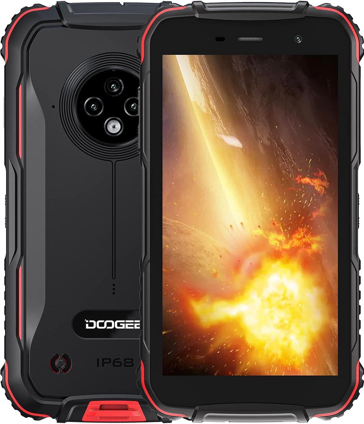 DOOGEE S35 [2021] Movil Resistente Smartphone Telefono Antigolpes Agua y Golpes 4G Libre Android 4350mAh Batería IP68 2GB RAM + 16GB ROM 13MP Triple Cámara 5.0 Corning Gorilla Glass Pantalla GPS