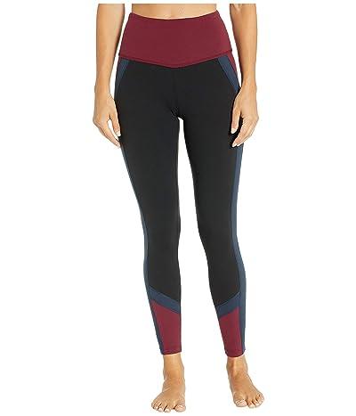 Beyond Yoga True Color Block High-Waisted Midi Leggings (Jet Black) Women