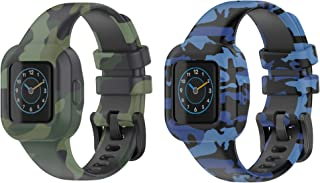T Tersely Mix Colour Replacement Band Strap for Garmin Vivofit JR 3 Junior 3, Soft Silicone Metal Clasp Buckle Wrist Strap...