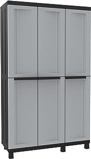 comprar comparacion Terry Twist Black 102a Armario multifunción de 3 Puertas con Dos Separados desarollo Horizontal con 3 estantes y un Compar...
