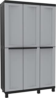 Terry - Armario plástico exterior, 102 x 39 x 170 cm