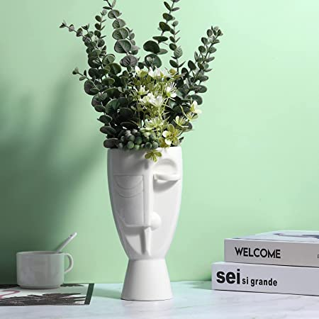 Details about  /Face Flower Vase Home Decoration Modern Ceramic Vase Flowers Pot Planters New