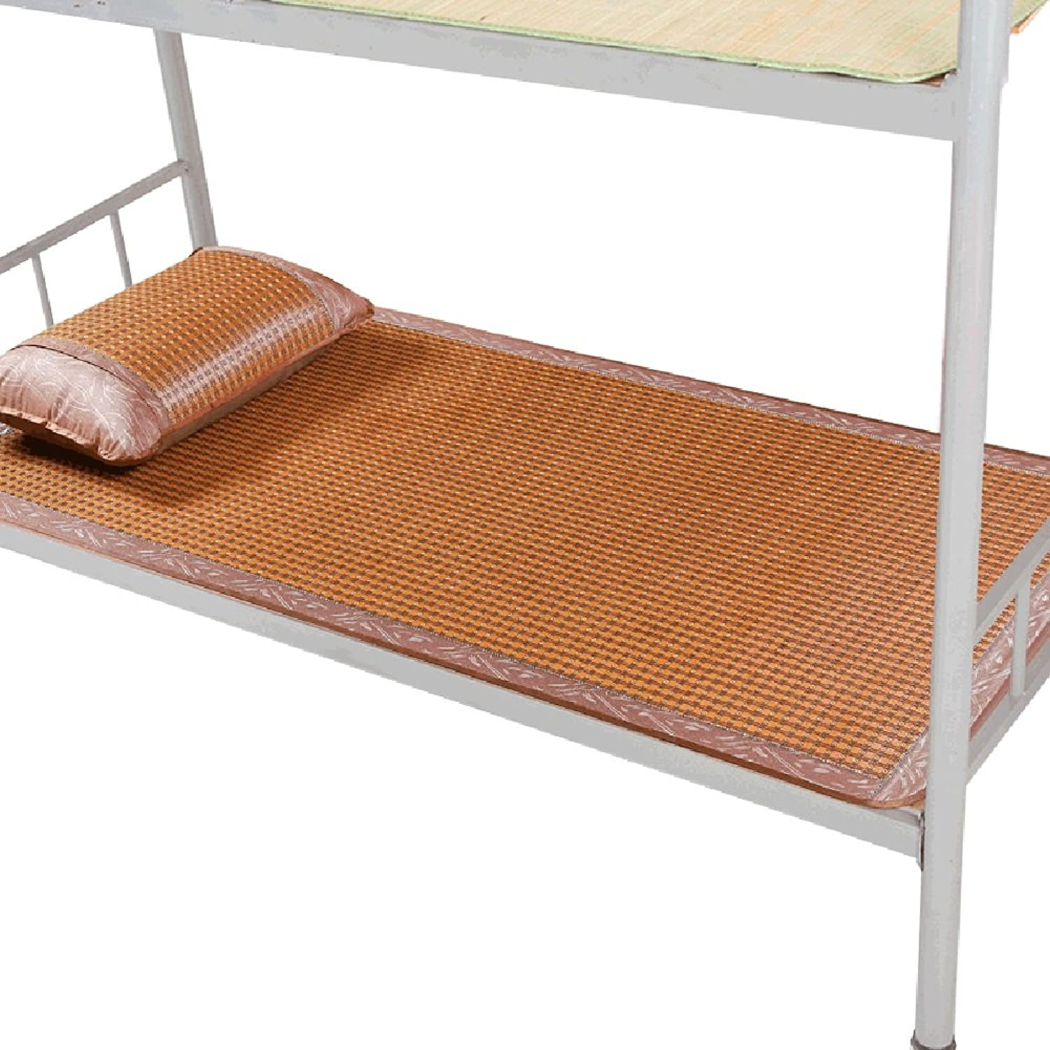 LIANGJUN Sleeping Mat Summer Mattress Rattan Grass Woven Cooling Smooth Collapsible Breathable Bedroom Student Dormitory Single Double Bed, 7 Sizes (Size   90X195cm)