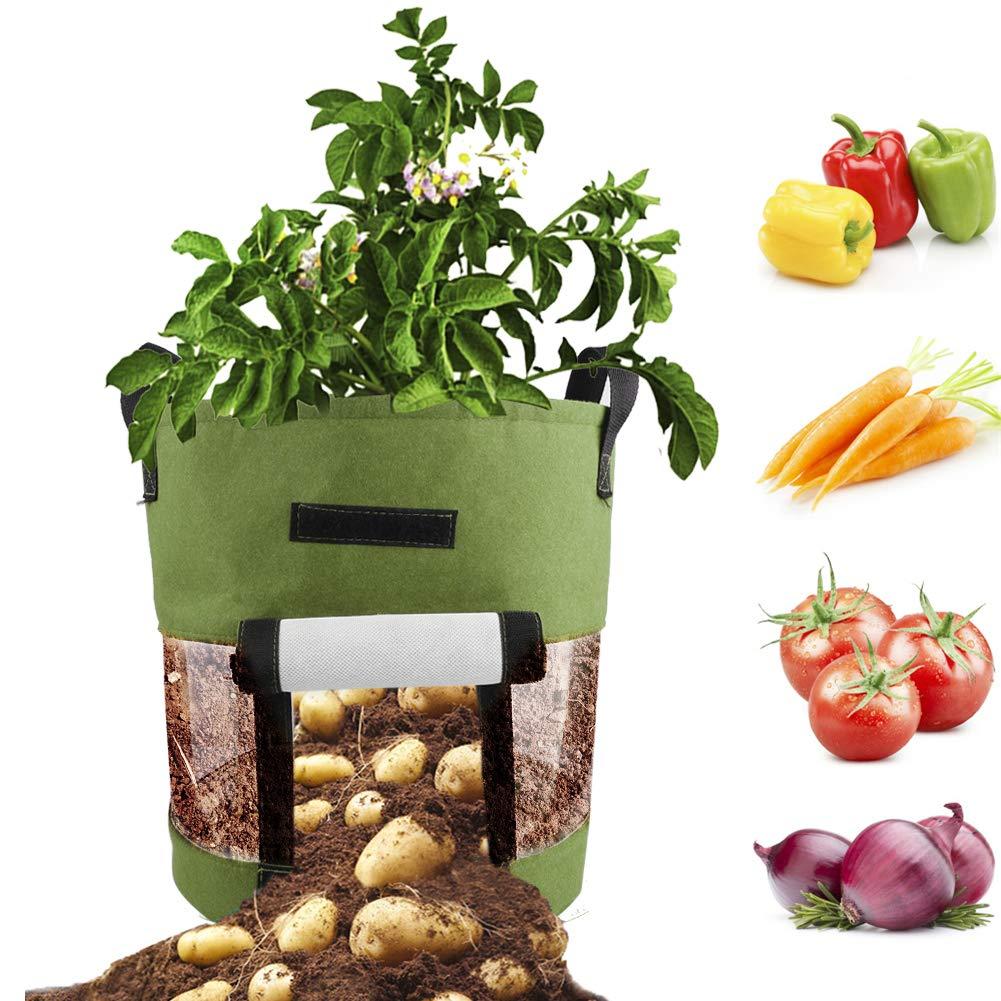 TETHYSUN 3Pcak Bolsa de Cultivo de 8 galones, macetas Inteligentes ...