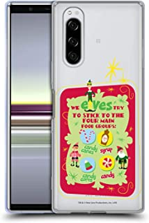 Official Elf Movie Food Groups Graphics 1 Soft Gel Case Compatible for Sony Xperia 5