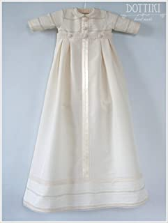 Baby Christening and Baptism Outfit, Heirloom Romper with Detachable Skirt, Bib and Cap or Bonnet