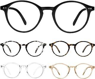 5 Pack Reading Glasses Blue Light Blocking Spring Hinge for Women Men Lightweight Anti Glare Filter Eyeglasses