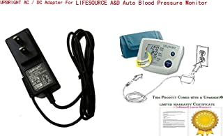 UpBright New Global AC/DC Adapter for LIFESOURCE Quick Response Blood Pressure Monitor UA-651M-V UA-767 UA-774 UA-787 UA-789 UA-851 UA-853 UA-1010 UA-1020 UA-1030 TB-181 TB-233 6V 3W Power Supply