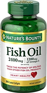 Nature's Bounty Fish 2400 mg OilSoftgels 90 ea (Pack of 2)