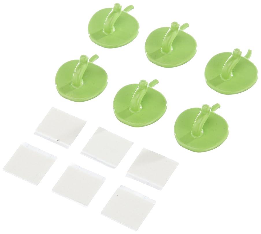 RUCO V267 Adhesive Hooks Set of 6 Apple