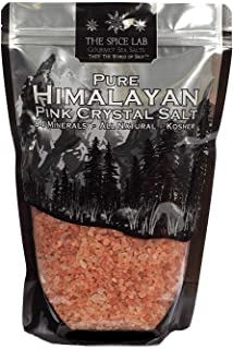The Spice Lab Himalayan Pink Salt - Coarse 2.2 Lb / 1 Kilo - Gourmet Pure Crystal - Pink Himalayan Salt is Nutrient and Mineral Dense for Health - Kosher & Natural Certified - Excellent Bath Salt