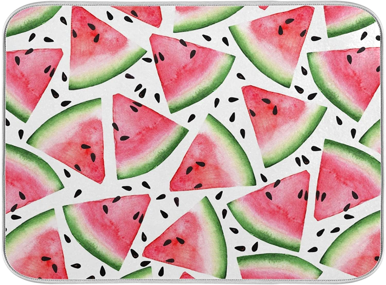 ZzWwR Summer Stylish Cut Watermelon Dish San Jose Mall Floral Sale item Absorbent Drying