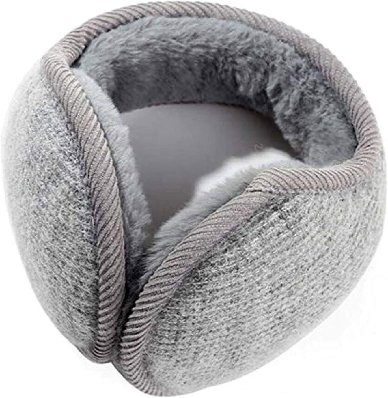 Mens Earlap Womens Mens Winter Outdoors Warmers Ear Bags Earmuffs Bandless Fleece Ear Earcap Beige Black Gray Pink Running (Color : Gray)